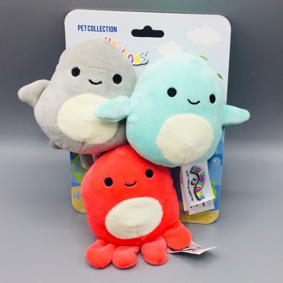 Squishmallows Pet Collection 3 Pack Sea Themed